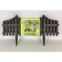 Забор декоративный штакетник Модерн, тёмно-коричневый