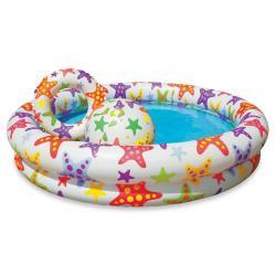 Детский надувной бассейн Intex Circle Pool Set, с кругом и мячом, 122х25 см